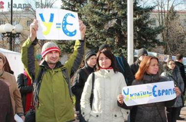 У Луганську між учасниками Евромайдана та Антимайдан сталася бійка