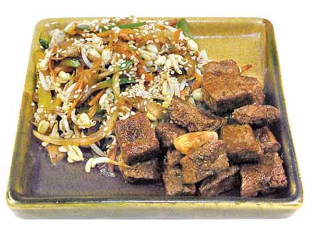 Блюда японской кухни из говядины