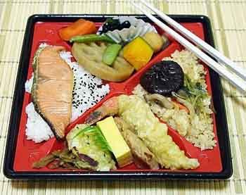 Блюда японской кухни из овощей