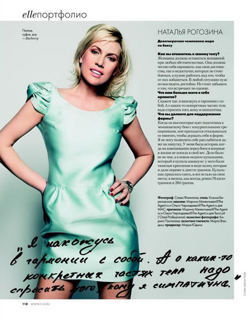 Cпецпроект ELLE `Кому какое тело`  Наталья Рогозина