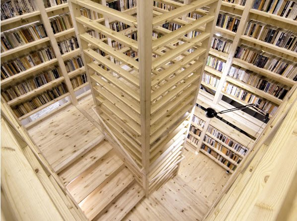 Tower bookshelf