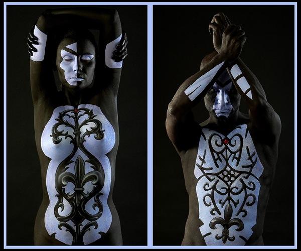 Боди-арт-художник Крейг Трейси Craig Tracy. Оригинальные работы.