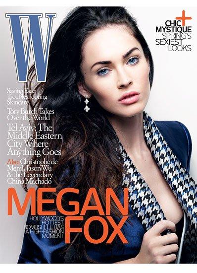 Меган Фокс Megan Fox в мартовском номере журнала W