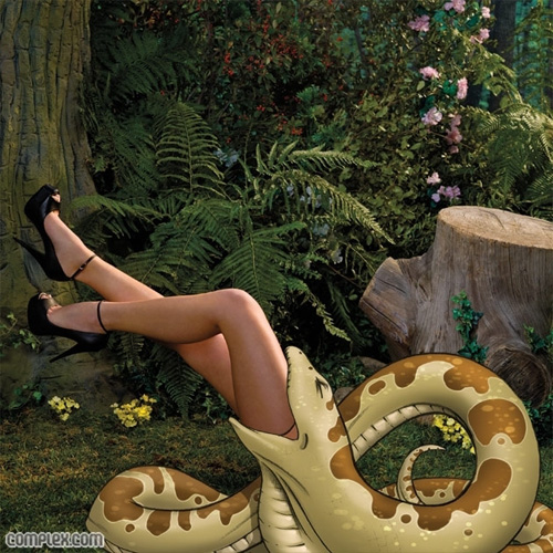 Оливия Манн Olivia Munn и ее мультяшные друзья для апрельского выпуска Complex