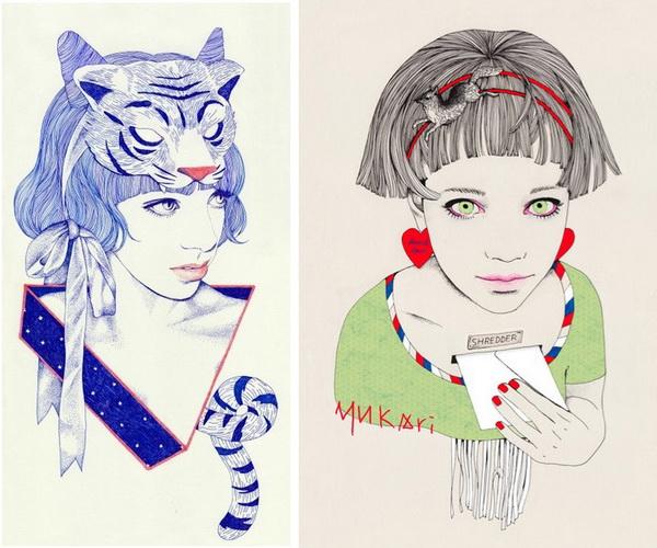 Новые работы японского иллюстратор Юкари Теракадо Yukari Terakado