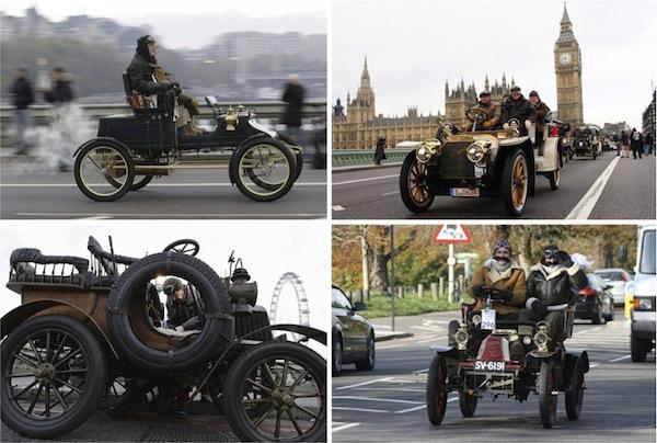 Автопробег старинных автомобилей в Англии