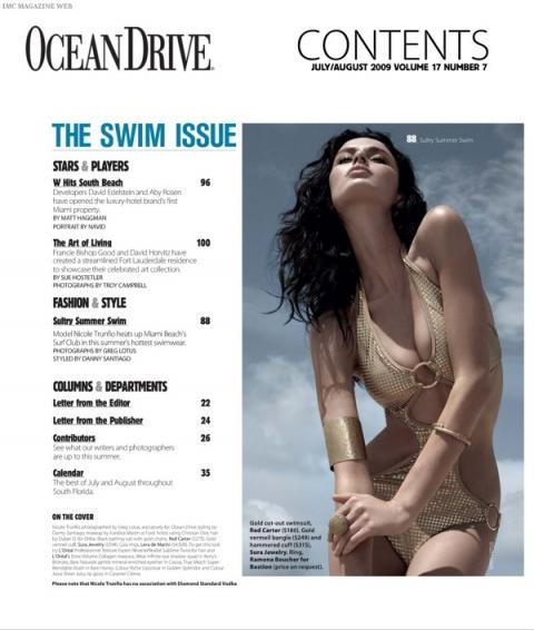 Николь Трунфио Nicole Trunfio в журнале Ocean Drive