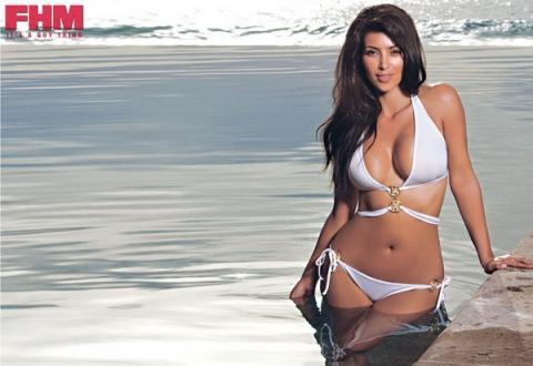 Ким Кардашьян Kim Kardashian для FHM South Africa