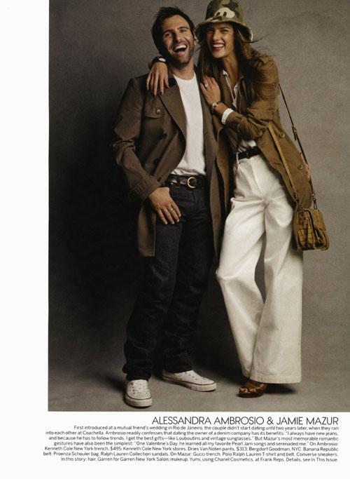 Две фотосессии в Vogue US, февраль 2011
