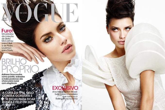 Адриана Лима Adriana Lima в февральском Vogue Brazil.