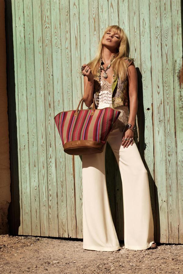 Kate Moss Кейт Мосс в рекламе Longchamp