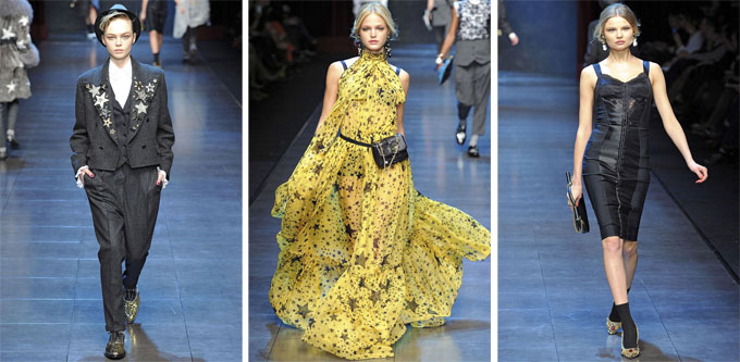 Неделя моды в Милане: Dolce & Gabbana Fall 2011.