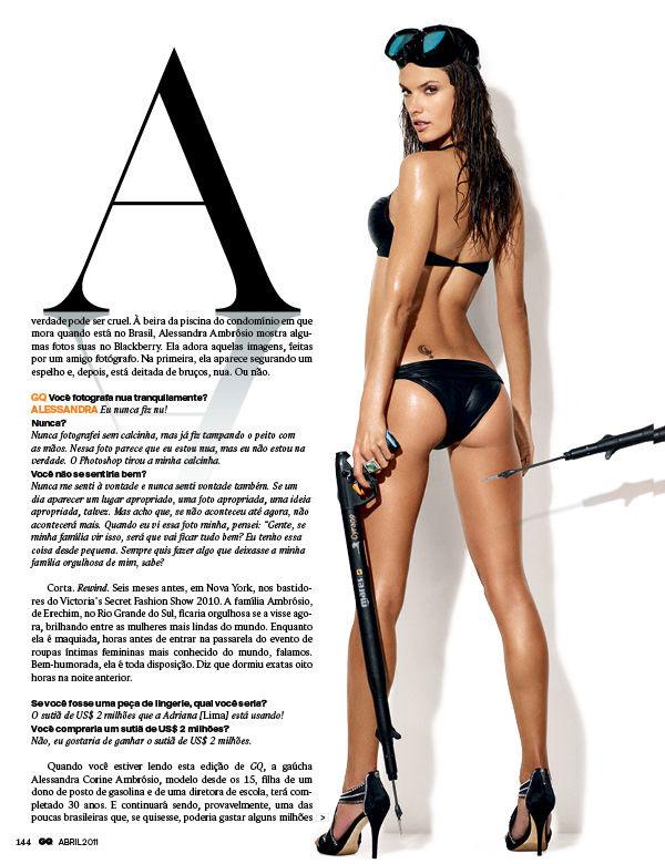 Алессандра Амбросио Alessandra Ambrosio в GQ Brasil