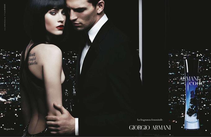 Меган Фокс Megan Fox в рекламе Armani.