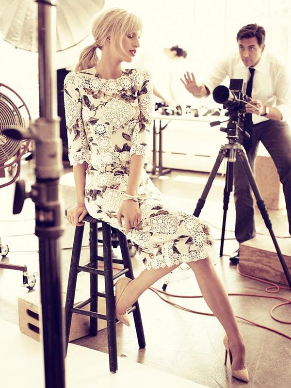 Фотосессия Karolina Kurkova Archie Drury в Vogue Deutsch