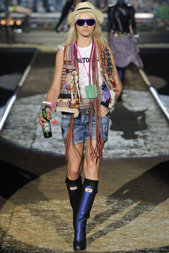 Тиждень моди в Мілані: DSquared2 весна 2012. Фото моделей
