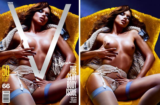 Оголені моделі на обкладинках V Magazine. Фото оголених моделей.