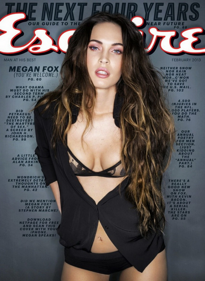 Меган Фокс для Esquire US і Marie Claire UK. Фото Megan Fox в журналах.