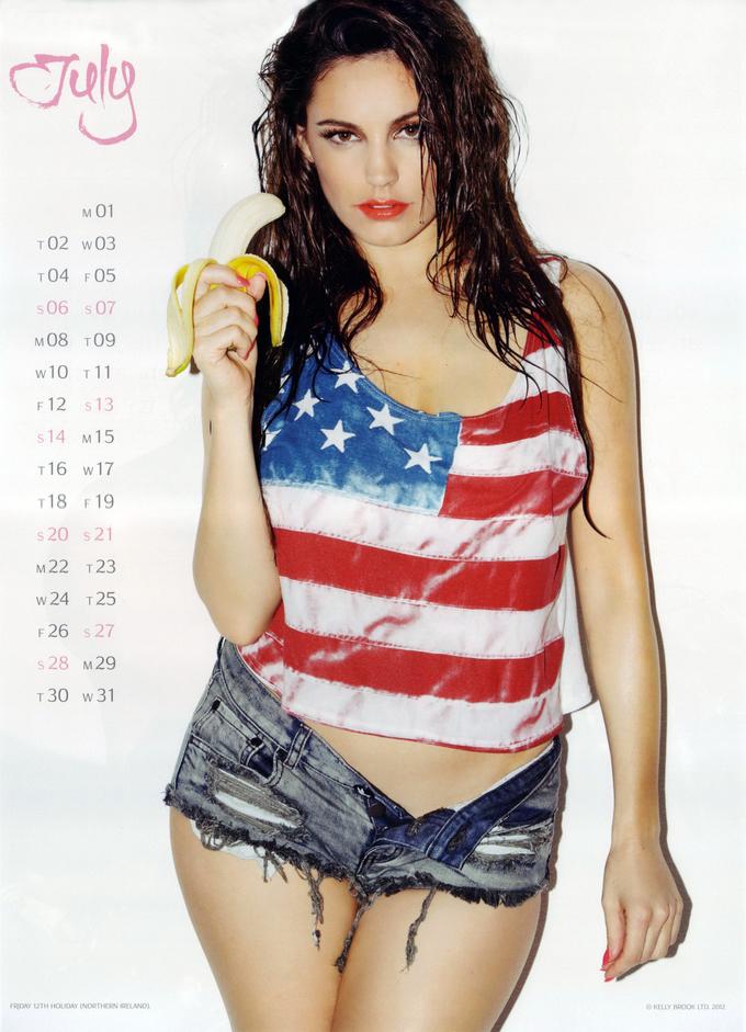 Офіційний календар Келлі Брук 2013. Фото Kelly Brook