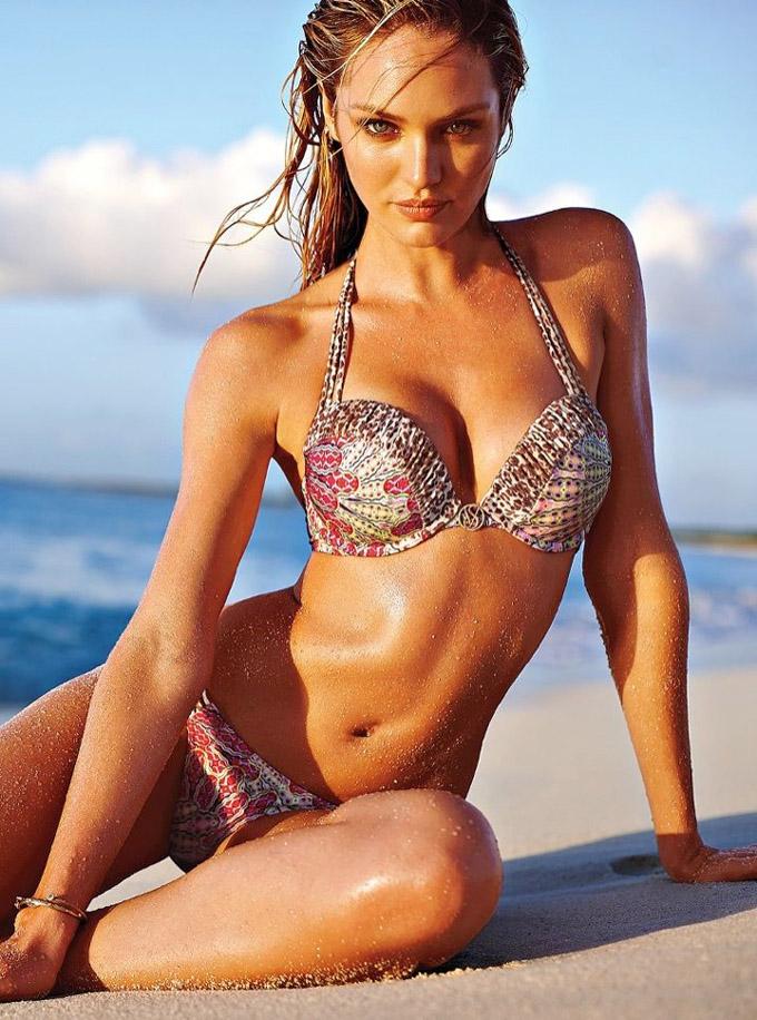 Кэндис Свэйнпоул в новом каталоге Victoria's Secret. Эро фотосессия в бикини Candice Swanepoel