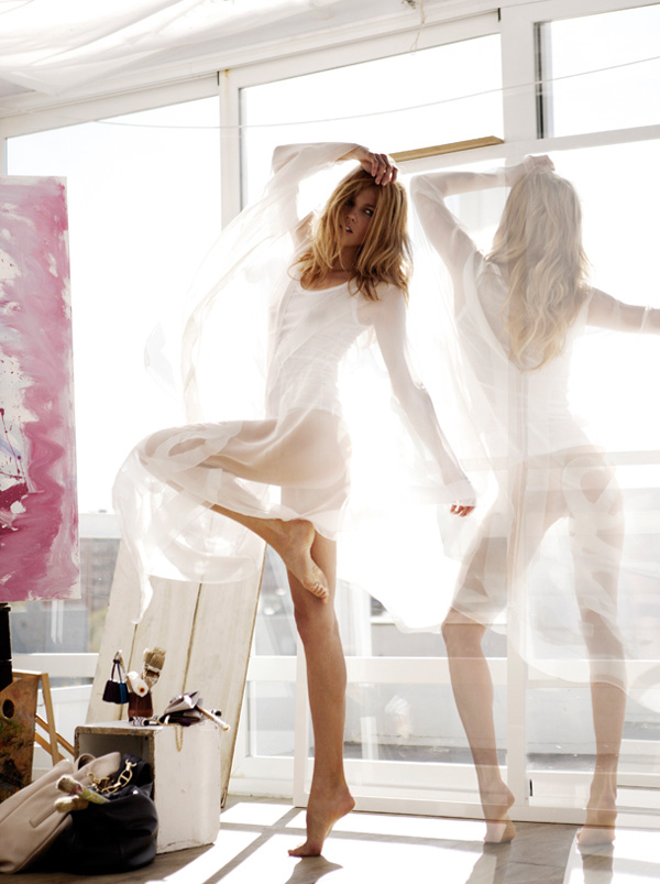 Маша Новоселова Masha Novoselova для апрельского Elle Spain