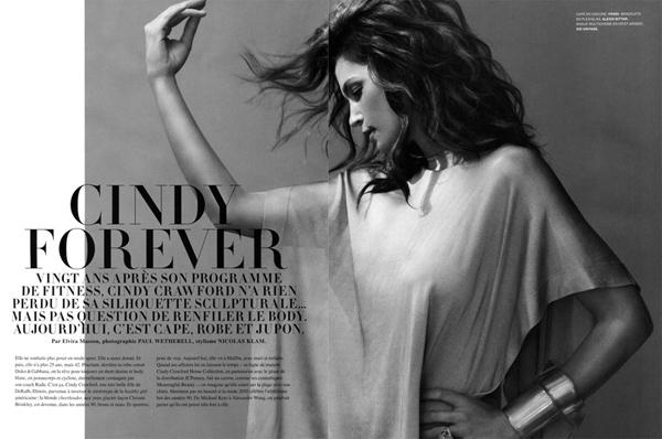 Синди Cindy Crawford навсегда. Фотосессия
