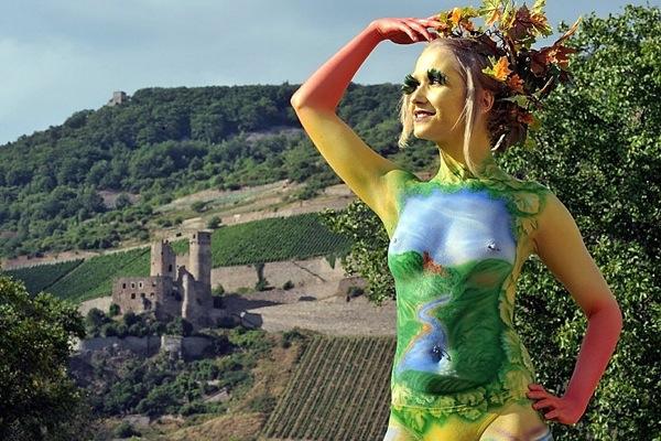 Международный фестиваль боди-арта World Bodypainting Festival  2010 года в городе Зеебоден, Австрия