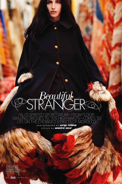 Восточные сказки Beautiful Stranger в Elle US
