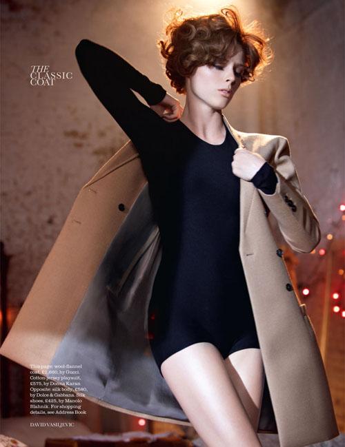 Танцующая Коко Роша Coco Rocha в октябрьском Elle UK