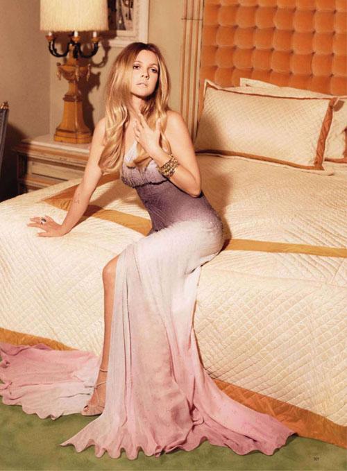 Фотосессия Дрю Бэрримор Drew Barrymore в Harper's Bazaar US