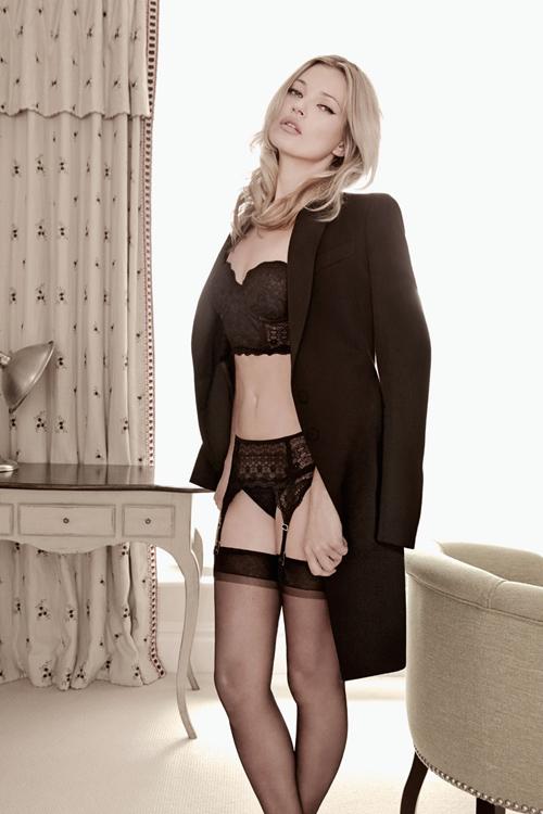 Кейт Мосс Kate Moss  в рекламе нижнего белья Valisere Lingerie