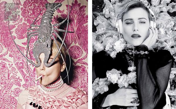 Дри Хэмингуэй в Vogue Italia, Twin, Vogue Paris и i-D