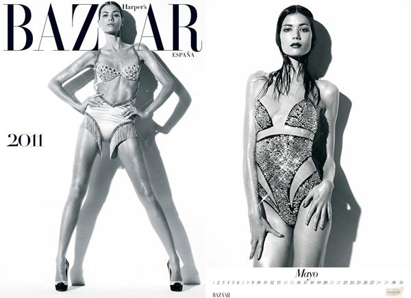 Sheila Marquez в календаре for Harper's Bazaar Spain 2011
