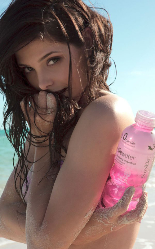 Эшли Грин Ashley Greene в рекламе Lifewater