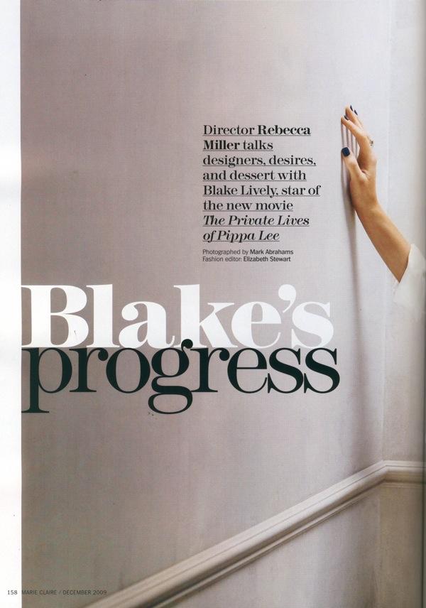 Блейк Лайвли Blake Lively в февральском Esquire