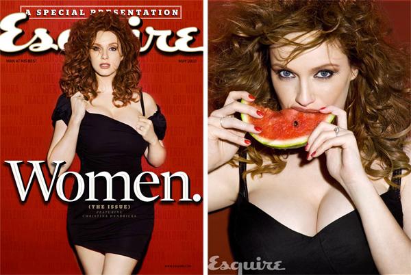 Кристина Хендрикс Christina Hendricks для Esquire