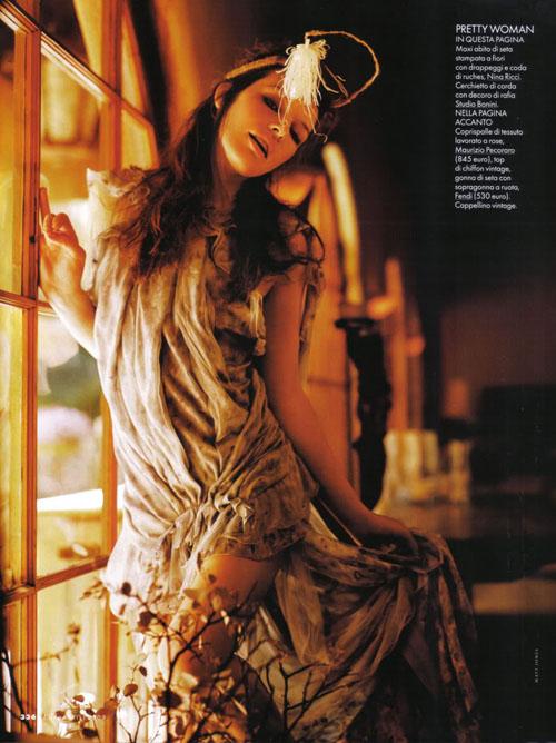 Милла Йовович Milla Jovovich в немецком GQ