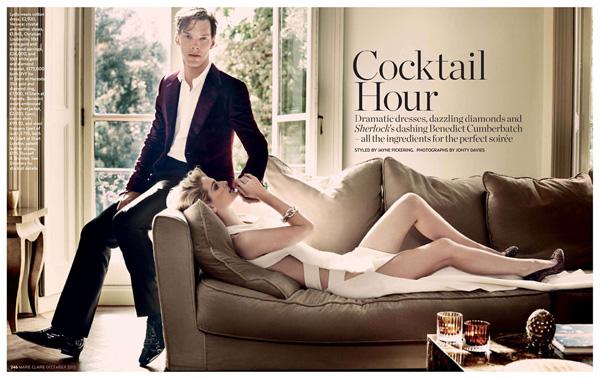 Коктейль с Шерлоком в Marie Claire UK