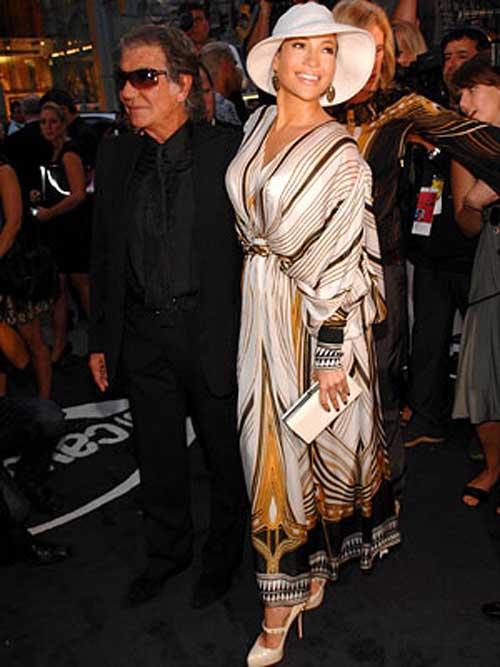 Roberto Cavalli and Jennifer Lopez