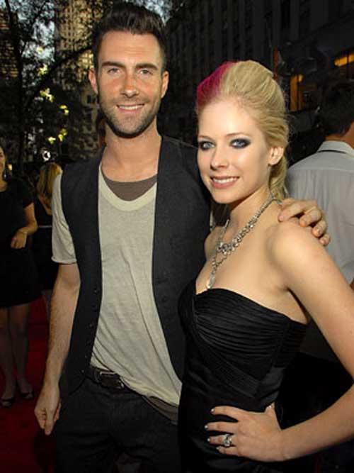 Adam Levine and Avril Lavigne