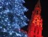 Рождественские огни Brussels Брюсселя. Фото